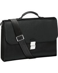 Montblanc - Meisterstück Soft Grain Single Gusset Briefcase - Lyst