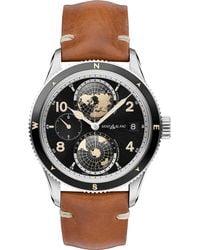 Montblanc - 1858 Geosphere Watch 42 Mm Aged Cognac Stainless Steel - Lyst