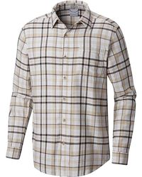 bf4be2acdf8 Lyst - Columbia Silver Ridge Flannel Long Sleeve Shirt in Black for Men