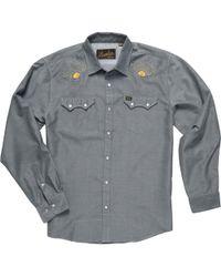 Mens Flight of Gulls Print//Ancient White Howler Brothers H Bar B Snap Shirt S
