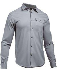 Under Armour - Ua Cascade Chambray Flannel Shirt - Lyst