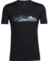 Icebreaker - Tech Lite Misty Peaks Ss Crewe - Lyst