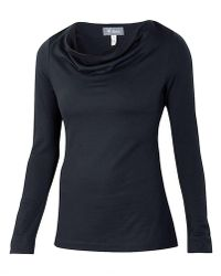 Ibex - Diana Cowl Neck Top - Lyst