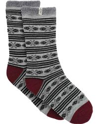 UGG - Fair Isle Fleece Lined Sock - Lyst