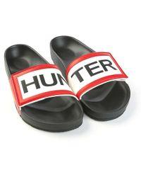 90285d63650 HUNTER - Orginal Adjustable Logo Slide - Lyst