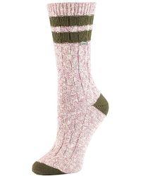Sorel - Varsity Stripe Cotton Cable Crew Sock - Lyst