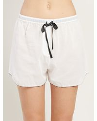Morgan Lane - Bea Short In Chalk - Lyst