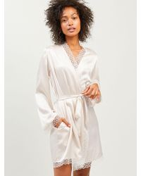 Morgan Lane - Sera Robe In Chalk - Lyst