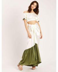 Morgan Lane - Abi Skirt In Seashell Fern - Lyst