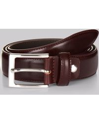 Hardy Amies - Oxblood Real Leather Belt - Lyst