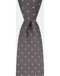DKNY - Silver Texture With Tonal Spot Tie - Lyst