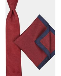 Moss London - Wine Texture Tie & Pocket Square Gift Set - Lyst