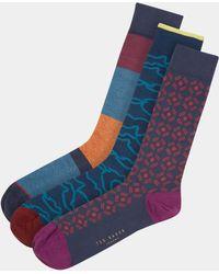 Ted Baker - Giift Asst Sock Gift-box - Lyst