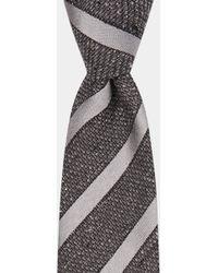 DKNY - Silver Textured Grenadine With Tonal Stripe Tie - Lyst
