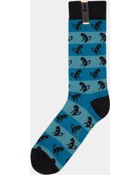 Ted Baker - Black Harvfro Monkey Socks - Lyst