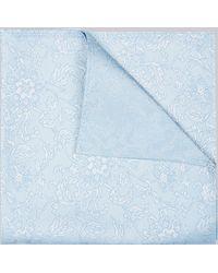 Hardy Amies - Blue Paisley Pocket Square - Lyst
