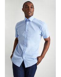 Moss Esq. - Regular Fit Sky Short Sleeve Shirt - Lyst