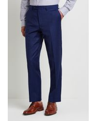 Ted Baker - Gold Tailored Fit Blue Herringbone Trousers - Lyst