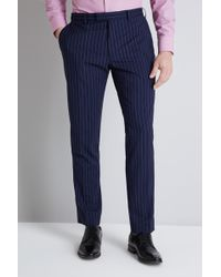 Lanificio F.lli Cerruti Dal 1881 - Cloth Tailored Fit Navy Stripe Itravel Trouser - Lyst