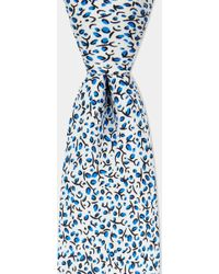 Moss Bros - White Small Branch Printed Tie - Lyst