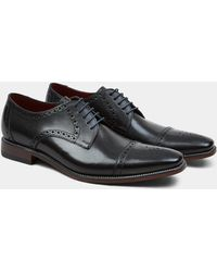 Loake - Foley Black Semi-Brogue Derby Shoe - Lyst
