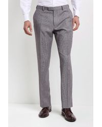 Lanificio F.lli Cerruti Dal 1881 - Tailored Fit Black & White With Red Check Trousers - Lyst