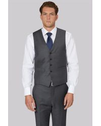 42f74127dfc6 Lyst - Ted Baker Tailored Fit French Blue Sharkskin Waistcoat in ...