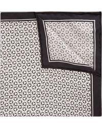 Hardy Amies - Black & White Geo Silk Pocket Square - Lyst