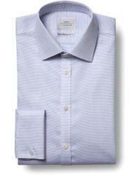 Moss Bros - Extra Slim Fit Sky Double Cuff Dobby Spot Zero Iron Shirt - Lyst