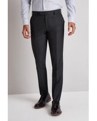 Moss London - Skinny Fit Charcoal Trousers - Lyst