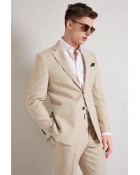Hardy Amies - Stone Linen Jacket - Lyst
