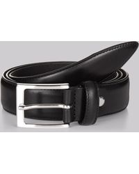 Hardy Amies - Black Real Leather Belt - Lyst