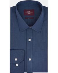 Moss Esq. - Regular Fit Navy Single Cuff Shirt - Lyst