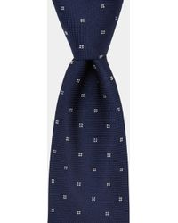 DKNY | Navy With White Flower Tie | Lyst