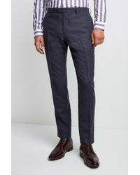 Lanificio F.lli Cerruti Dal 1881 - Cloth Tailored Fit Mid Blue Texture Milled Itravel Trouser - Lyst