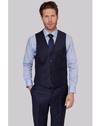 Ermenegildo Zegna - Regular Fit Naples Blue Waistcoat - Lyst