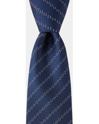 HUGO - Blue Silver Pindot Tie - Lyst