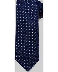 Moss Esq. | Navy Mini Spot Silk Tie | Lyst