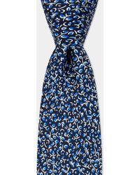 Moss Bros - Navy Small Branch Printed Tie - Lyst