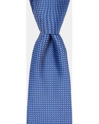 DKNY - Blue Textured Tie - Lyst