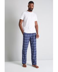 Ted Baker - Blue Check Pyjama Set - Lyst
