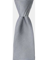 DKNY - Navy & White Textured Tie - Lyst
