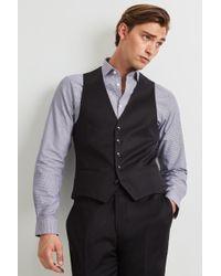DKNY - Slim Fit Black Waistcoat - Lyst