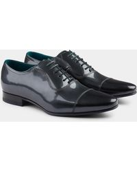 Ted Baker - Sharney Silver Patent Toe Cap Oxford - Lyst
