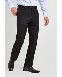 Moss Esq. - Regular Fit Black Trousers - Lyst