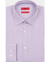 HUGO - Single Cuff Pencil Stripe Navy Shirt - Lyst