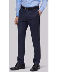 Lanificio F.lli Cerruti Dal 1881 - Cloth Tailored Fit Indigo Semi Plain Trouser - Lyst