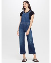 Mother Denim - The Greaser Overall Crop What I Had Before I Had You - Lyst