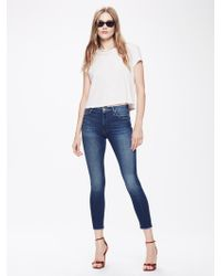 Mother Denim - High Waisted Looker Ankle Fray Goin For Gold - Lyst