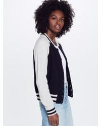 Mother - The Letterman Sweater Very Dark Navy - Lyst